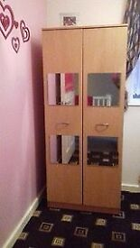 For Sale Two Door Wardrobe Oak Finish