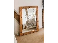 Beautiful set of solid wood mirrors with studs