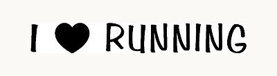 I LOVE RUNNING Sticker Car Window Vinyl Decal Laptop Marathon Run Sprint 13.1