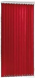 Red blackout vertical blinds