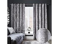 Crush velvet curtains
