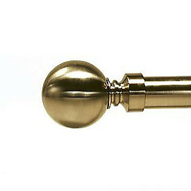 *** Dunelm 2x Antique Brass Round Finials 29mm diam ***