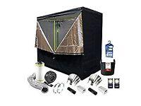 Grow tent set up