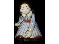 Rare Retired Royal Crown Derby Florance Rag Doll - 1st - best -