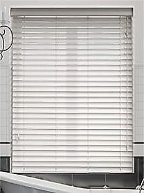 Brand new white wood 50mm blinds2go Venetian blind