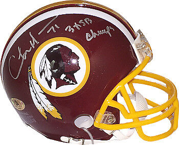 (Charles Mann signed Washington Redskins Riddell Mini Helmet #71 3X SB Champs)