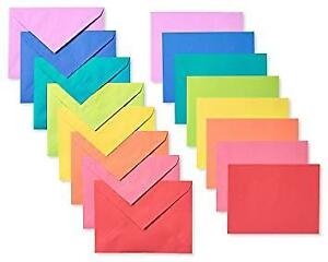 Rainbow Coloured Envelopes, 200-Count