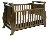 Boori Sleigh Cot Bed (was 800£ new) (cot & toddler bed) - can deliver