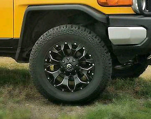 "4 18"" Fuel Assults Rims W Fun Country Tires"