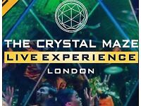2 x Crystal Maze Experience tickets £70 Sunday 26th November 2017