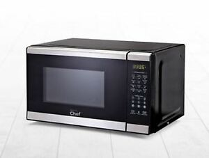 MASTER Chef Microwave, Black/Stainless Steel