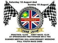 Norwich New Stars Youth Grasstrack 20th Anniversary Race Weekend