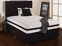 BRAND NEW - NEW DESIGN!! DOUBLE DIVAN BED WITH ORTHOPAEDIC MATTRESS!! ORDER NOW