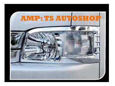 Chrome Head Lamp Light Cover Trim For Van Toyota Hiace Commuter 2011 2013 V 1