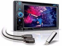 "BRAND NEW Clarion NX405E 2yr warranty 6""Double Din DVD,Sat Nav, Bluetooth Car Stereo"