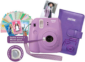 Fujifilm Instax Mini 9 Instant Camera Bundle - Smokey Purple