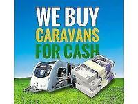 WE BUY CARAVANS FOR CASH