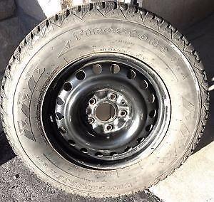 225/70R16 Firestone Winterforce on steel wheels for Dodge Caravan. $104.95 each (65% tread)