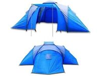 Family 6 man, 3 bedroom tent (can fit 9). Blue/grey, slight damage easily repaired