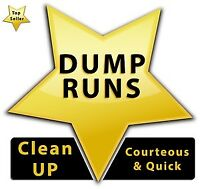 Dump runs, yard cleanup and garbage removal.