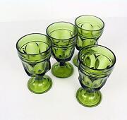 Vintage Green Wine Glasses