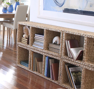 Freedom water hyacinth wicker storage shelf bookcase Cambridge Park Penrith Area Preview