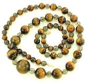 Tiger eye necklace ebay vintage tiger eye necklaces mozeypictures Images