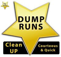 Dump runs, yard clean up and garbage removal.