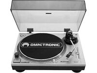 Omnitronic DD2250 Manual Direct Drive Turntable - Record Player