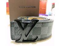 Louis Vuitton Belt Men's Graphite Damier LV