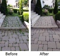 Paving Stone Cleaning & Re-Sanding - Driveway, Walkway, or Patio