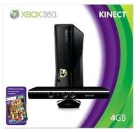 BNIB - Xbox 360 4gb with Kinect and Adventures Game