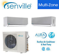 Climatiseur d'air muraux 27000 BTU Tri Zone avec thermopompe