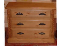 CHEST OF DRAWERS WITH NICE CUP HANDLES