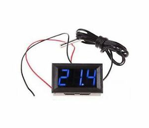 Vehicle Digital Thermometer LED Temperature Meter Probe -50~110