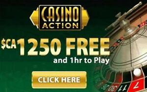 Play at Casino Action Today with up to $1250 Free!