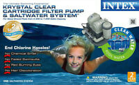 Intex 120V Krystal Clear Cartridge Filter Pump &Saltwater System