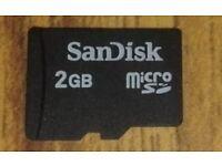 san disk 2gb memory card