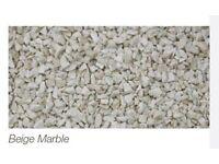 1 Ton bag of 6mm beige marble dash (Irwin Aggregates)