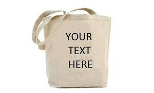Personalised Vinyl Printed Natural Eco Friendly Tote Shoulder Shopping Bag *NEW*