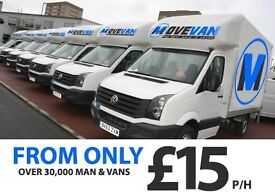 UK & EUROPE CHEAPEST & LARGEST MAN & VAN FROM £15P/H, INSTANT ONLINE QUOTE IN LESS THAN 30 SECS! CR