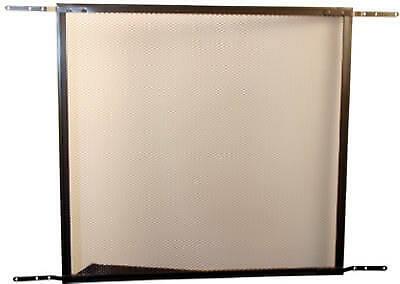 Screen Door Grille, Brown Aluminum, 24-In.