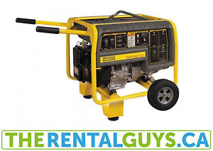 Portable Generator Rental Free Delivery