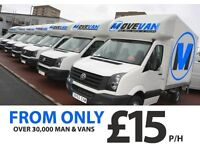UK & EUROPE CHEAPEST & LARGEST MAN & VAN FROM *£15P/H, INSTANT ONLINE QUOTE IN LESS THAN 30 SECS! NB
