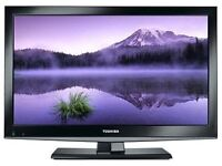 """22"""" TOSHIBA LED TV FREEVIEW FULL HD USB WITH REMOTE CAN DELIVER FIRST TO SEE WILL BUY BARGAIN"""