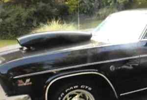 1966 impala steel hood and drag scoop trade for cowl induction h West Island Greater Montréal image 2
