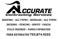 ACCURATE CONTRACTING SERVICES 705 559 9202