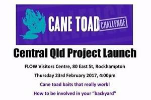Cane Toad CQ Project Launch 23 Feb Emu Park Yeppoon Area Preview