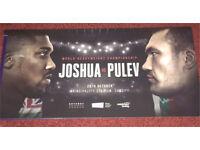 4x Anthony Joshua vs Carlos Takam (kubrat pulev) tickets