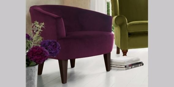 Iona crushed velvet plum purple chair. Currently selling in Next for £250